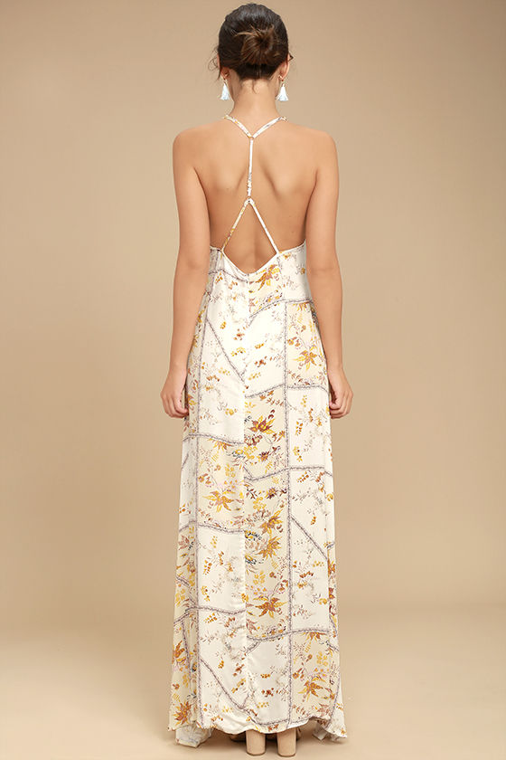 Somedays Lovin' A Little Sunshine Cream Floral Print Maxi Dress 3