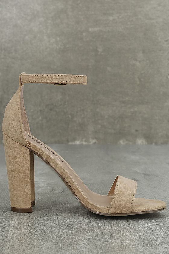 Raylen Natural Suede Ankle Strap Heels 3