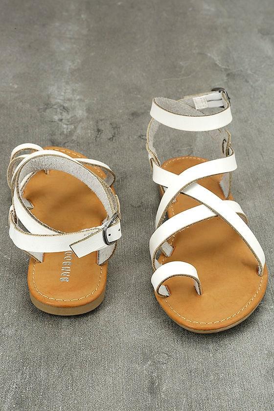 Kaya White Ankle Strap Sandals 3