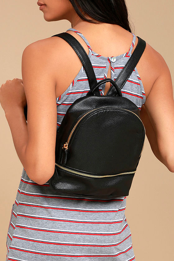 Zip Me Baby One More Time Black Mini Backpack 1