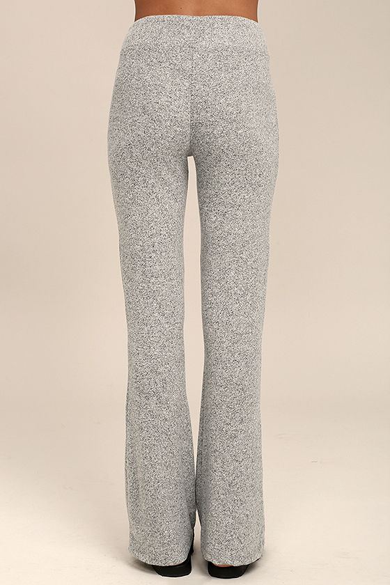 More Life Heather Grey Flare Pants 3