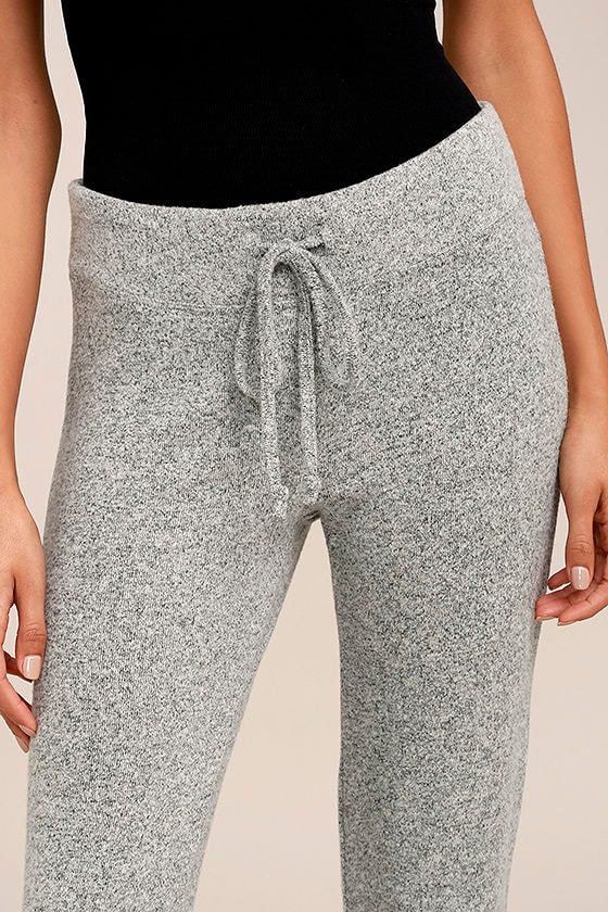 More Life Heather Grey Flare Pants 4
