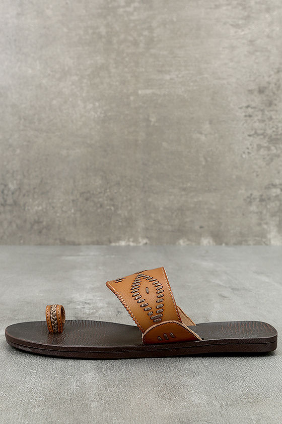 Blowfish Domaine Desert Sand Tan Flat Sandals 1