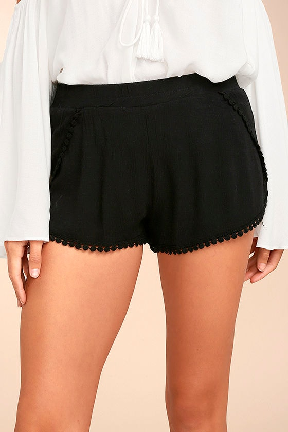 Breeze By Black Embroidered Shorts 1