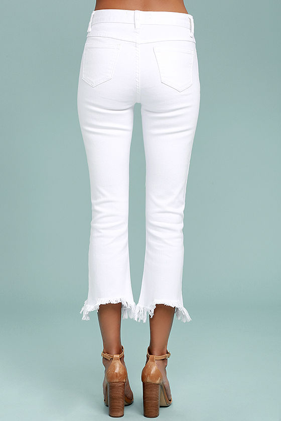 J.O.A. Fete White Distressed Ankle Skinny Jeans 4