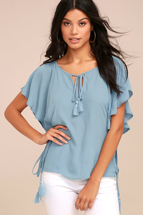 Chic Companion Light Blue Top 1