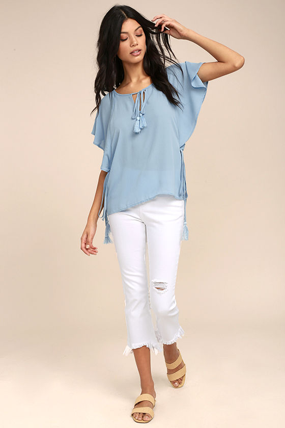 Chic Companion Light Blue Top 2