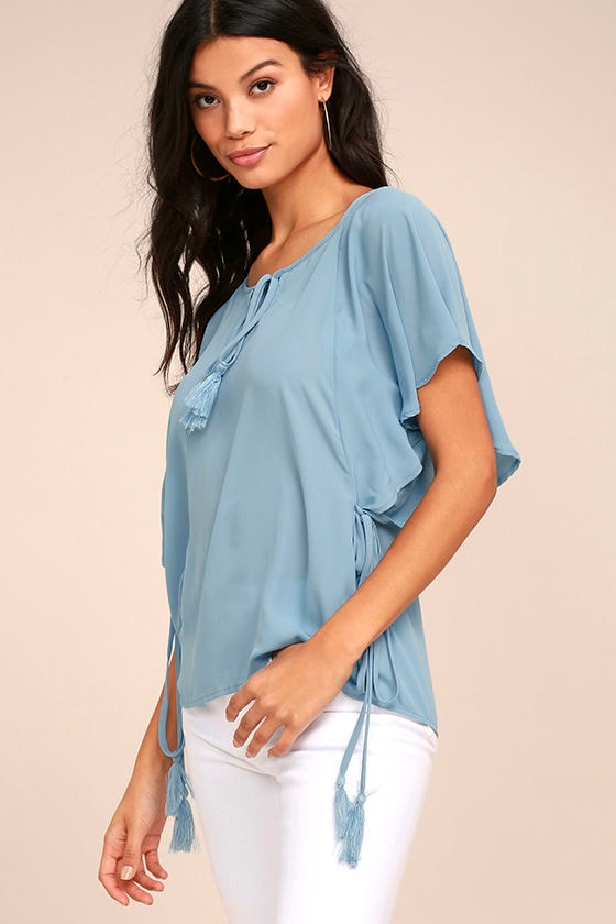 Chic Companion Light Blue Top 3