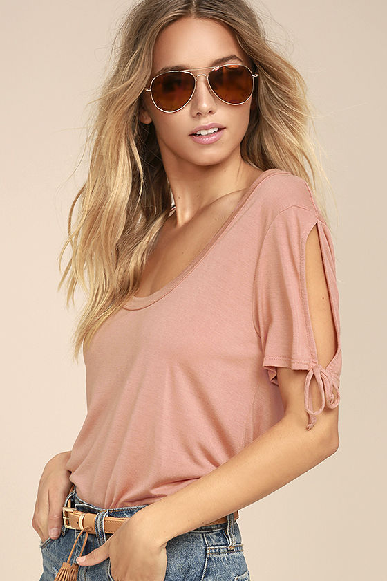 Project Social T Parsons Blush Pink Tee 1