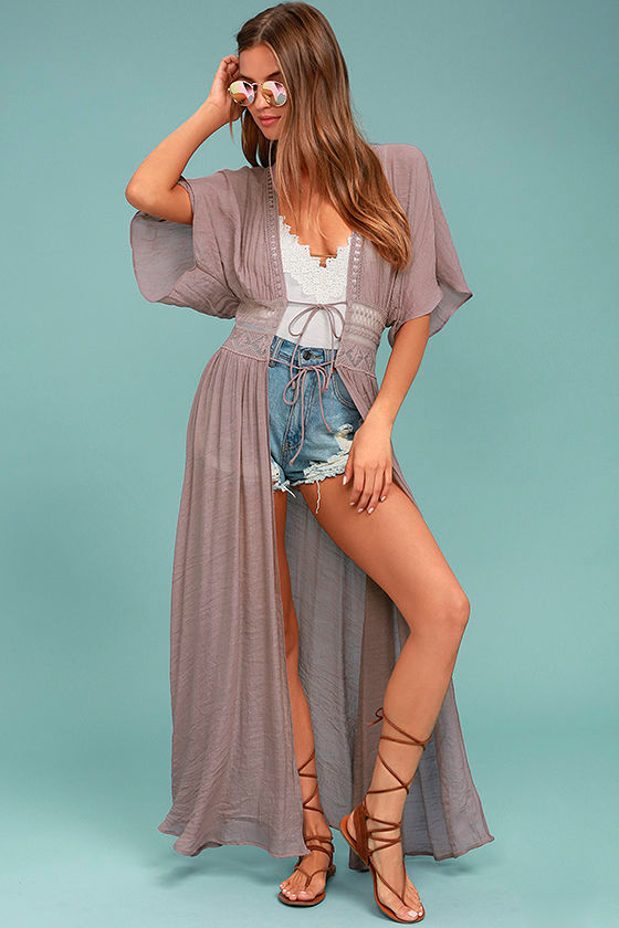 Carried Away Mauve Embroidered Maxi Top 1