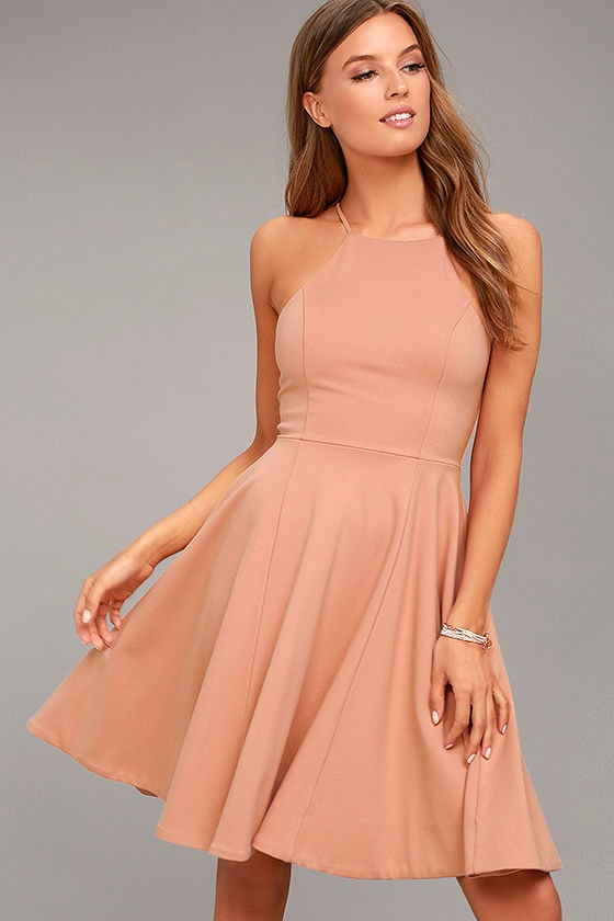 a11efe26f1 Best of You Blush Pink Midi Dress