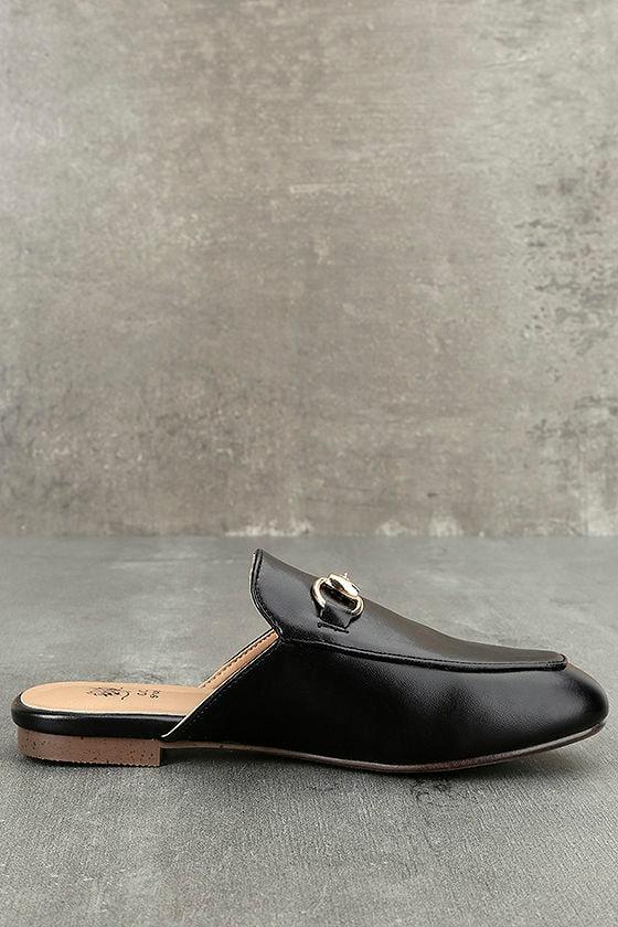 Chantae Black Loafer Slides 3