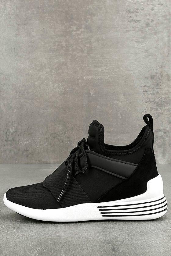 Kendall + Kylie Braydin3 Black Hidden Wedge Sneakers 1