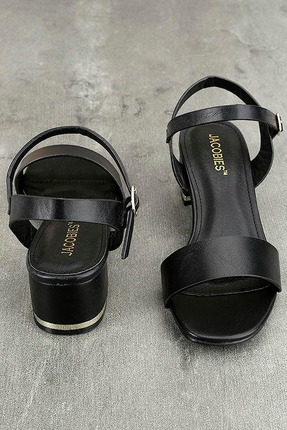 Lila Grace Black High Heel Sandals 2
