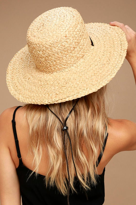52884d377ec72 Wyeth Suzy - Straw Hat - Sun Hat - Wide Brim Hat - Flat Top Hat - $55.00