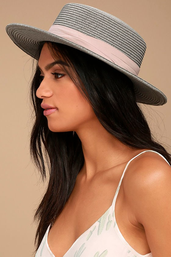 Wyeth Sam Grey Straw Hat 1