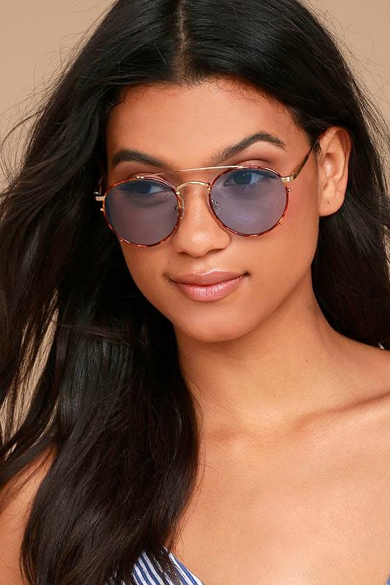 Crap Eyewear The Tuff Safari Blue and Tortoise Sunglasses 1