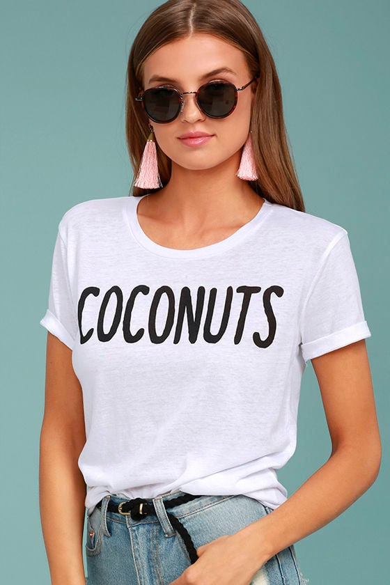 Chaser Coconuts White Tee 1