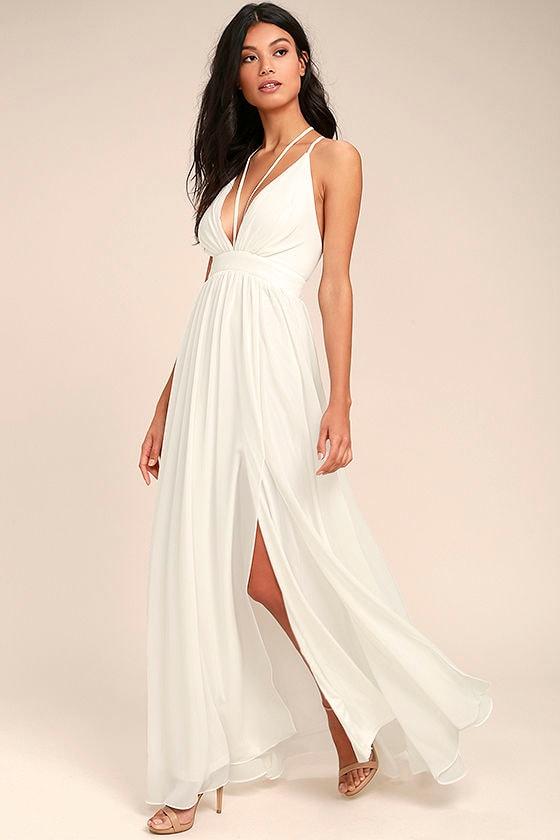 Gorgeous White Maxi Dress - Woven Maxi Dress - Halter Maxi Dress