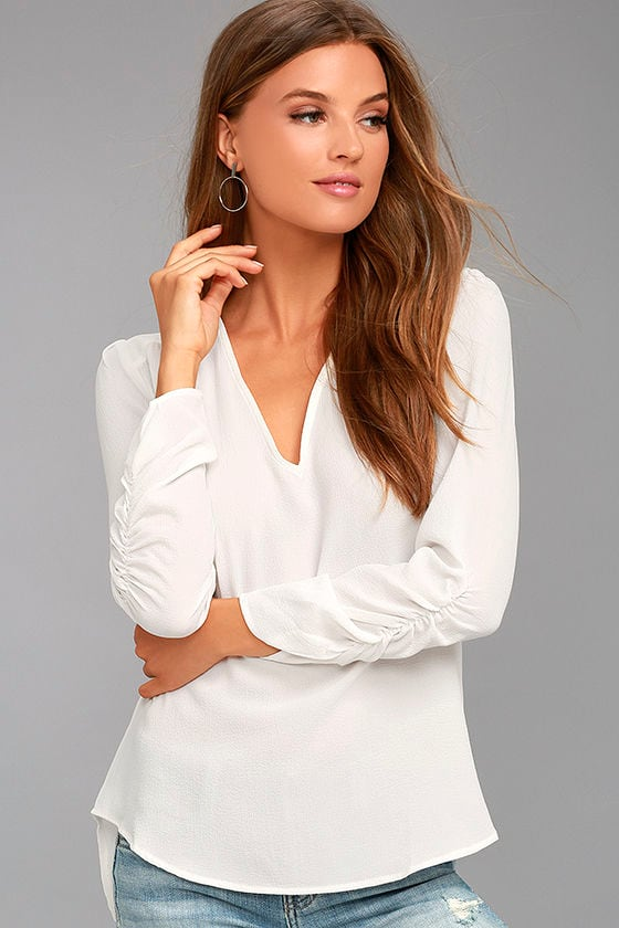 Isola Bella White Long Sleeve Top 1