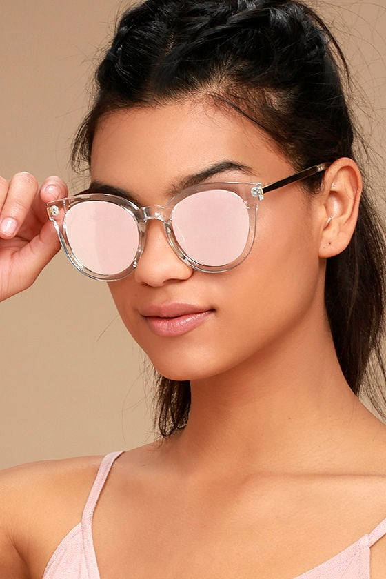 7a916e8dff4a Cool Clear and Pink Sunglasses - Mirrored Sunglasses - $15.00