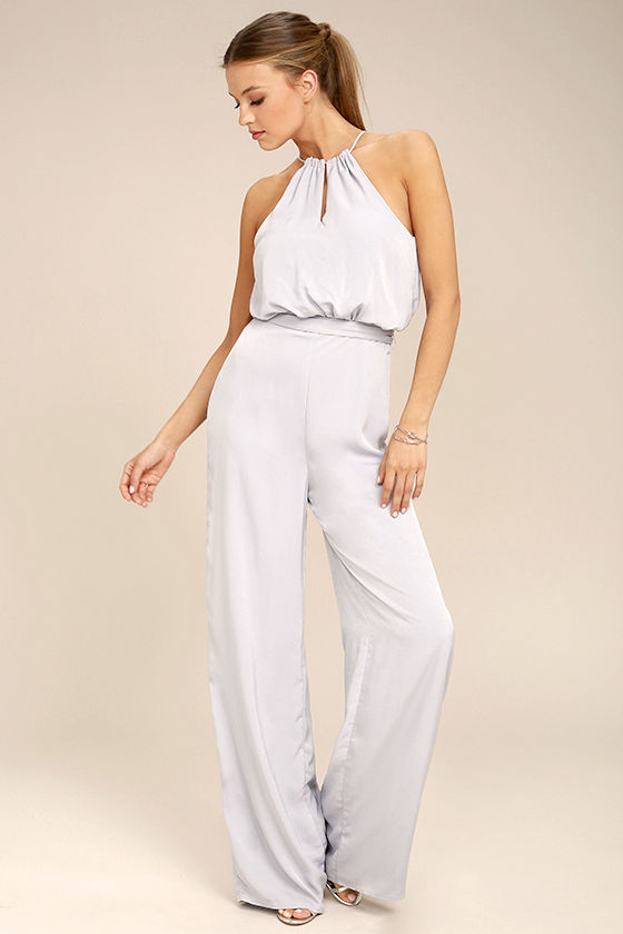 Dance With You Light Grey Jumpsuit Mod And Retro Clothing