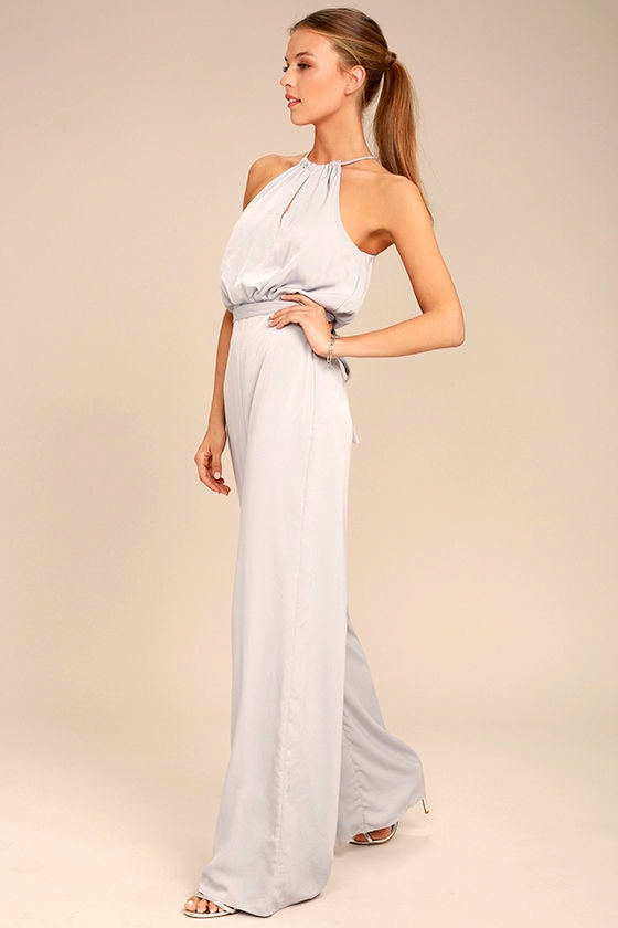 Dance With You Light Grey Jumpsuit 2