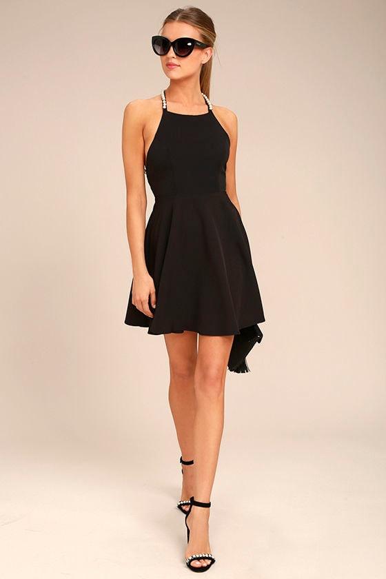 Adore You Black Pearl Skater Dress 2