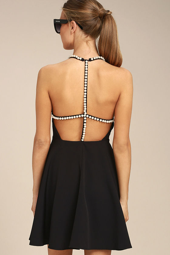 Adore You Black Pearl Skater Dress 3