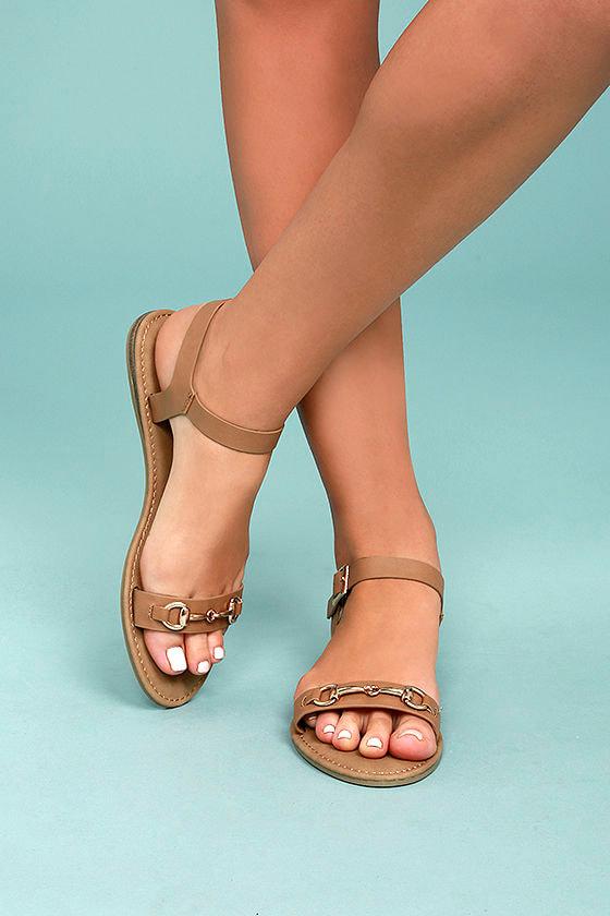Dita Natural Flat Sandals 1