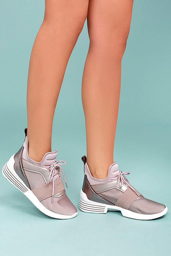 Kendall + Kylie Braydin3 Light Pink Hidden Wedge Sneakers 1