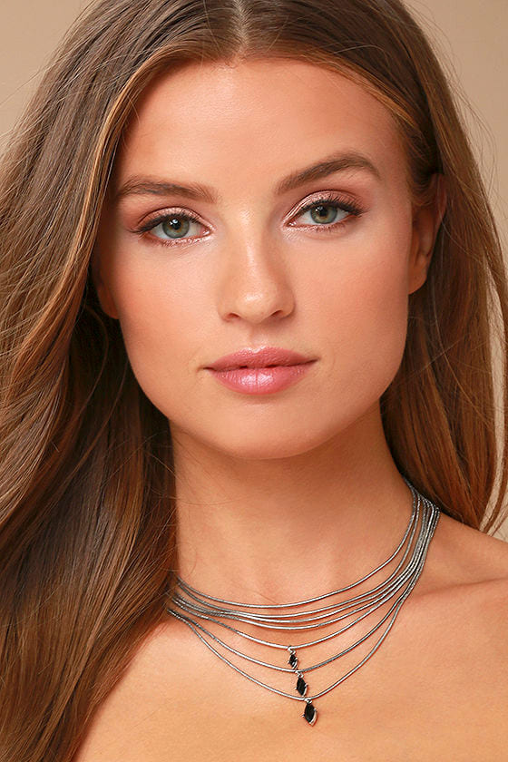 The Chic and the Stone Silver Layered Choker Necklace 1