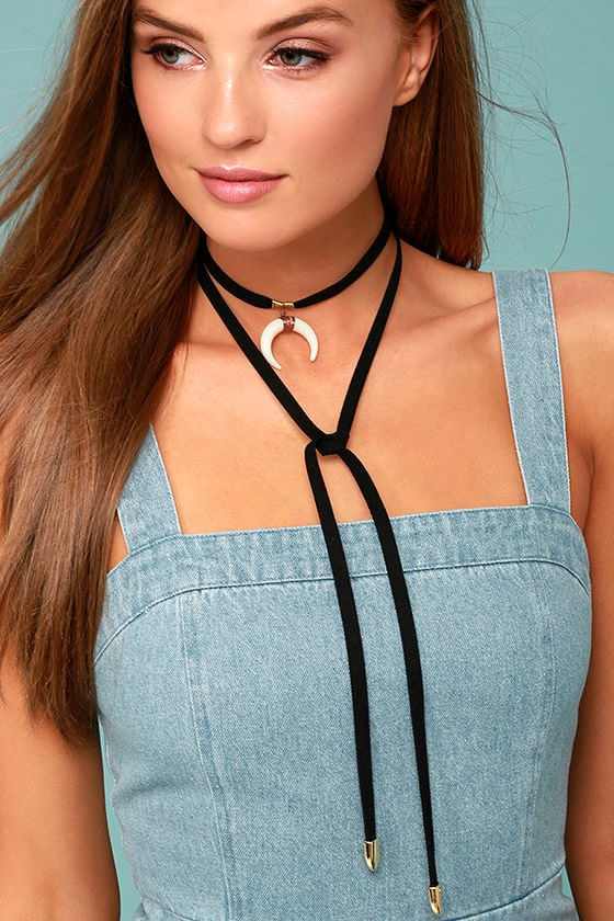 Positive Prediction Black Wrap Necklace 1