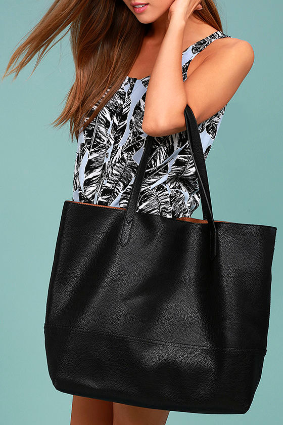 Hands Down Black Tote 1