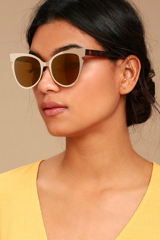 Buns Gold Mirrored Cat-Eye Sunglasses 1