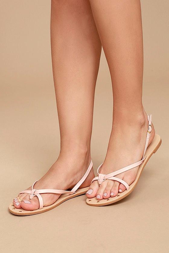 c51dcf876 Cute Blush Sandals - Flat Sandals - Thong Sandals -  16.00