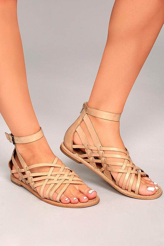 cca992c7ef3e Rebels Trinity Natural Sandals - Genuine Leather Sandals