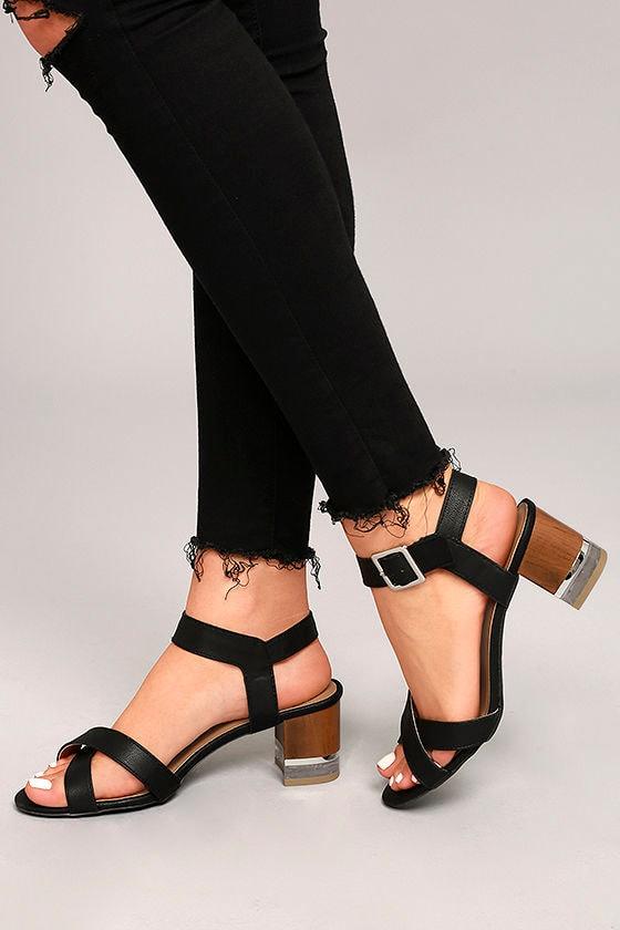 Blaire Black High Heel Sandals 2