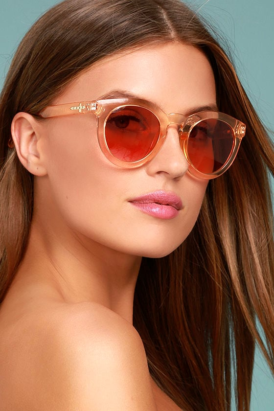 Crap Eyewear The T.V. Eye Peach Sunglasses 1