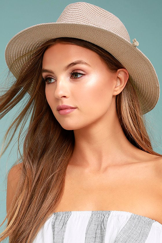 Love at Sunset Blush Pink Straw Fedora Hat 1