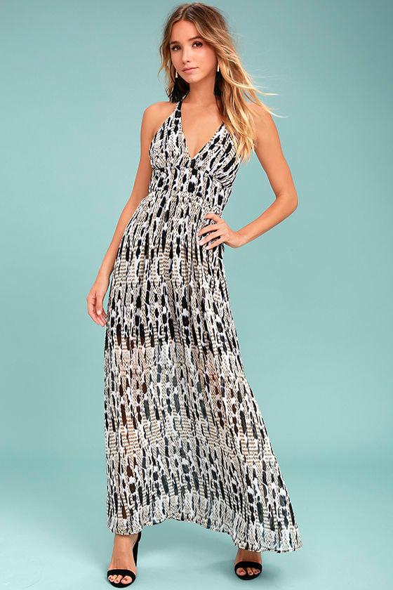 BB Dakota Willow Black Print Maxi Dress 2