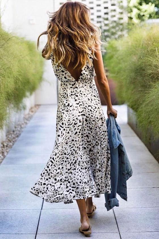 MINKPINK Sumatra Beige Leopard Print Midi Dress 7