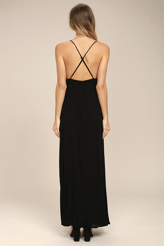 Favorite Crush Black Embroidered Maxi Dress 3