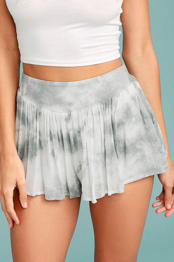 PPLA Alondra Grey Tie-Dye Shorts 1