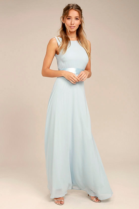 e7bfcec84e8 Stunning Light Blue Maxi Dress - Backless Maxi Dress - Gown -  82.00