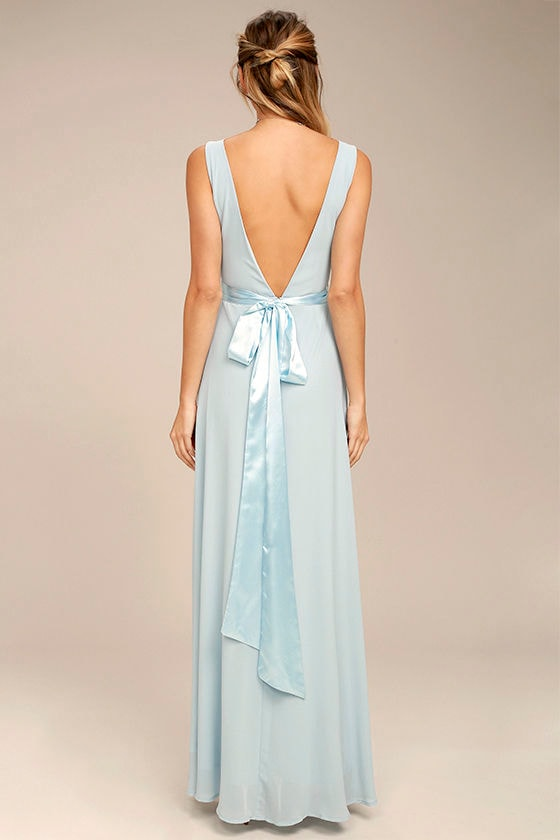 That Something Special Light Blue Maxi Dress 3