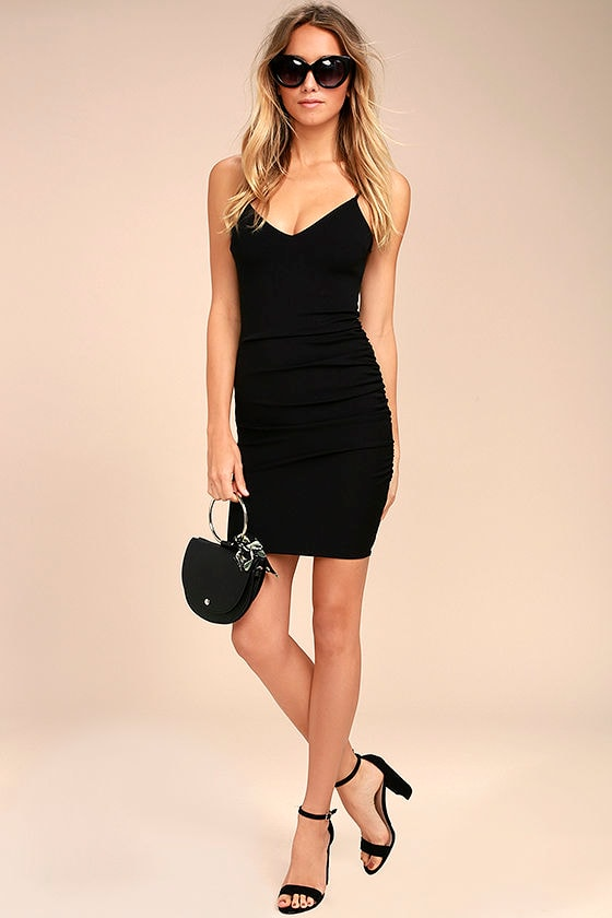 Au Courant Black Bodycon Dress 2
