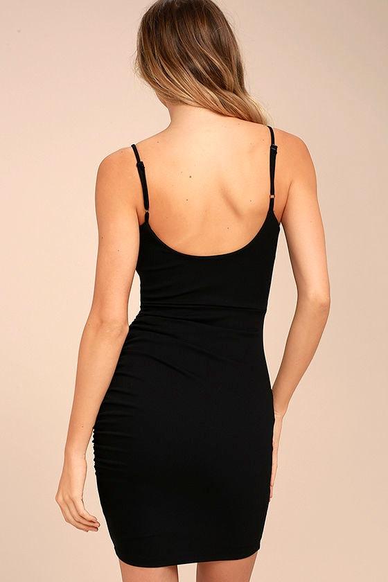 Au Courant Black Bodycon Dress 4