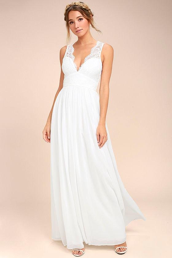 31fb863a58f0ba White Gown Maxi Dress Sleeveless Maxi Dress