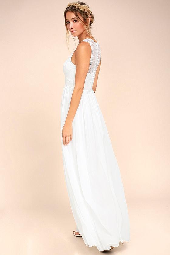 Destined to Dream White Lace Maxi Dress 2